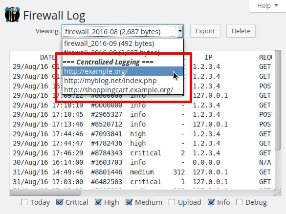 Centralized logging with NinjaFirewall  – NinTechNet