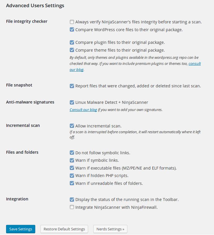 NinjaScanner: A powerful antivirus scanner for WordPress